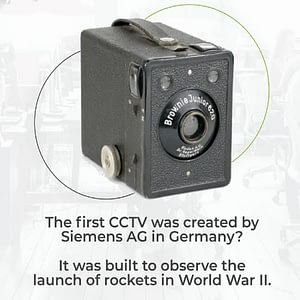 The first CCTV camera designed by Siemen's AG in 1942