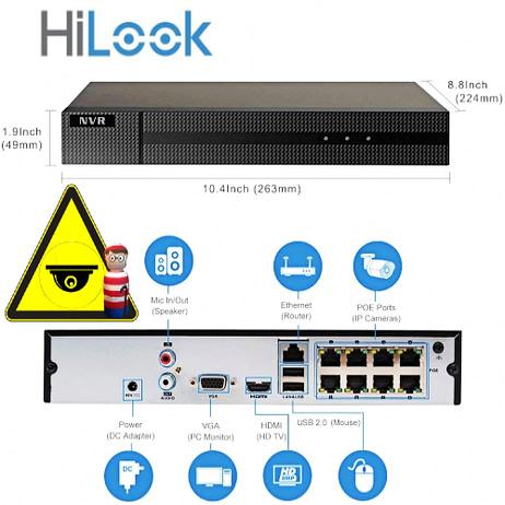 Hilook NVR-108MH-plus 8 port PoE